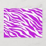 PurpleWhiteZebraStripes.jpg Post Cards