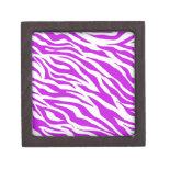 PurpleWhiteZebraStripes.jpg Premium Trinket Box