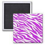 PurpleWhiteZebraStripes.jpg Refrigerator Magnet