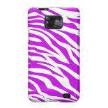 PurpleWhiteZebraStripes.jpg Samsung Galaxy S2 Case