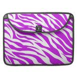 PurpleWhiteZebraStripes.jpg Sleeve For MacBook Pro