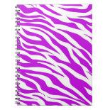 PurpleWhiteZebraStripes.jpg Spiral Notebooks