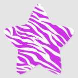 PurpleWhiteZebraStripes.jpg Star Stickers