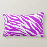 PurpleWhiteZebraStripes.jpg Throw Pillows
