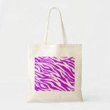 PurpleWhiteZebraStripes.jpg Tote Bags