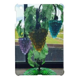 PurpleYellow Teal Vintage Grapevine Glass Art iPad Mini Covers