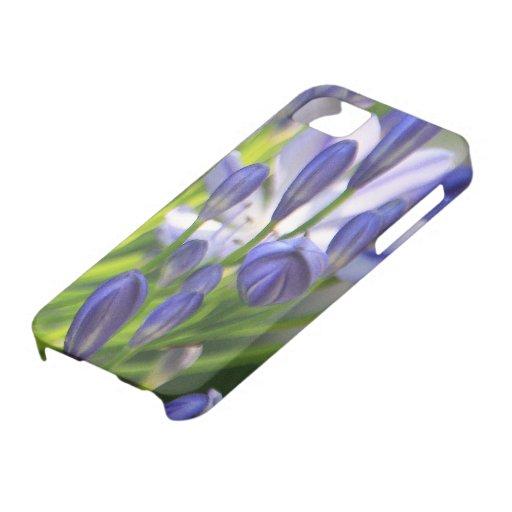 Purplish Blue Floral iPhone SE/5/5s Case
