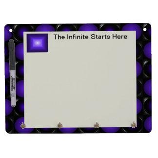 Purplish Chessboard 3D Design Purple and Grey Dry Erase Board With Keychain Holder