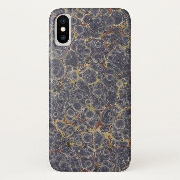 Purplish Gray Dappled Marble Phone iPhone XS Case
