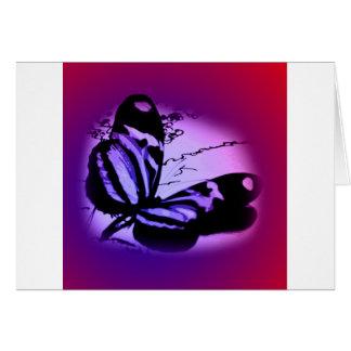 Purplish Pink Butterfly Card