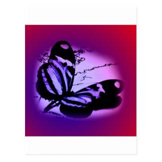 Purplish Pink Butterfly Postcard