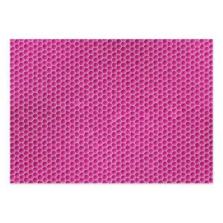 Purplish pink octagonal honeycomb design large business cards (Pack of 100)