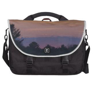 Purplish Sunset down the highway Commuter Bag