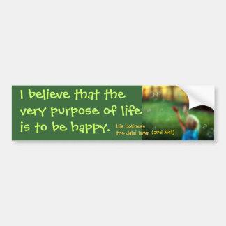 purpose car bumper sticker