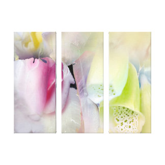 Purpose in Poetry Floral 3 Panel Painting Canvas Print