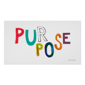 Purpose meaning use identity fun colorful word art poster