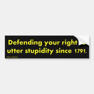 Purpose of the Bill of Rights Bumper Sticker