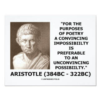 Purposes Of Poetry Convincing Impossibility Quote Card