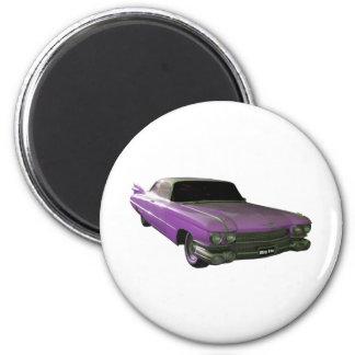 Púrpura 1959 de Cadillac Iman De Nevera