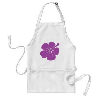púrpura 2 del hibisco delantal