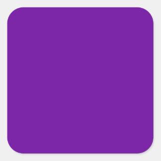 Púrpura 660099 calcomania cuadradas personalizadas
