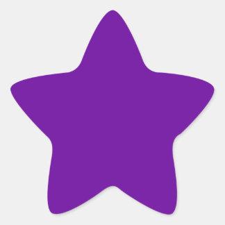 Púrpura 660099 calcomania forma de estrella personalizada