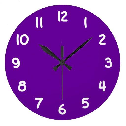 Púrpura 660099 reloj redondo grande