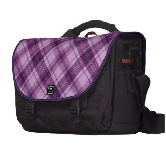 púrpura a cuadros bolsas de ordenador