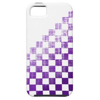 Púrpura a cuadros iPhone 5 cárcasa