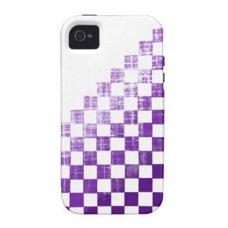 Púrpura a cuadros vibe iPhone 4 carcasas