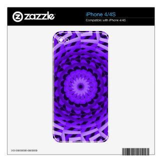 Púrpura abstracta calcomanía para iPhone 4S