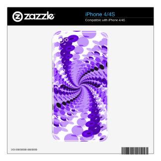 Púrpura abstracta calcomanías para iPhone 4S