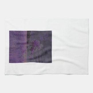 Púrpura abstracta de la naturaleza y árbol y toalla de mano