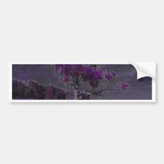 Púrpura abstracta de la naturaleza y árbol y pegatina para auto