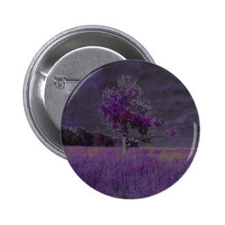 Púrpura abstracta de la naturaleza y árbol y chapa redonda 5 cm