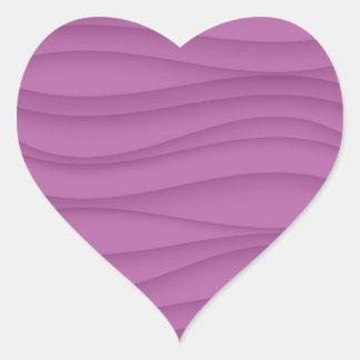 Púrpura abstracta de la onda - elija su forma pegatina en forma de corazón