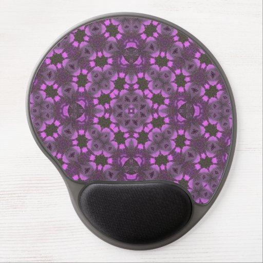 Púrpura abstracta del modelo alfombrillas de raton con gel
