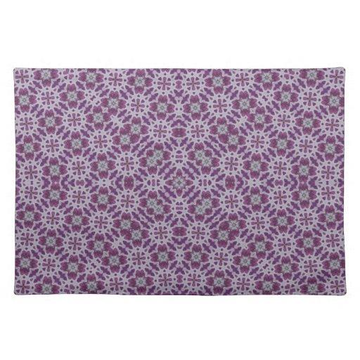Púrpura abstracta del modelo manteles individuales