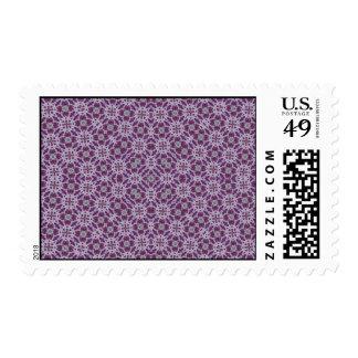 Púrpura abstracta del modelo sello