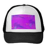 Púrpura abstracta gorro de camionero