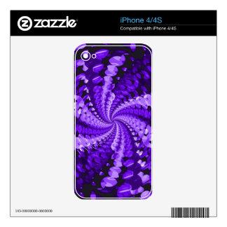 Púrpura abstracta iPhone 4 skin
