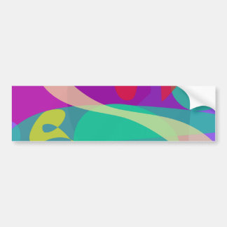 Púrpura abstracto feliz y verde brillantes pegatina para auto
