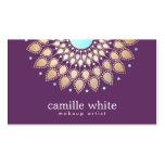Púrpura adornada del adorno del oro elegante del a tarjetas de negocios