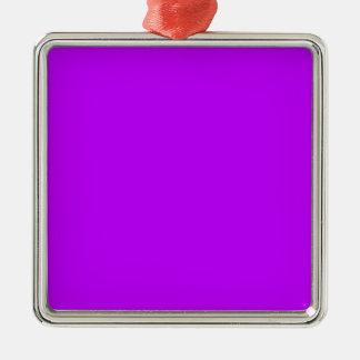 Púrpura Adorno Navideño Cuadrado De Metal