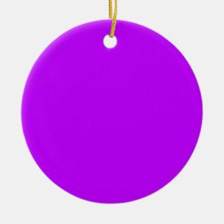 Púrpura Adorno Navideño Redondo De Cerámica