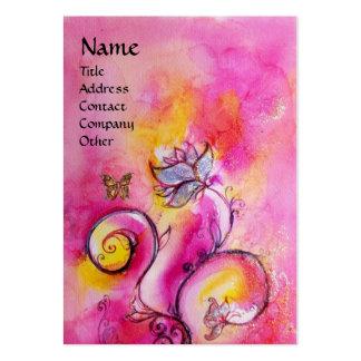 Púrpura amarilla rosada CAPRICHOSA de las FLORES y Tarjetas De Visita