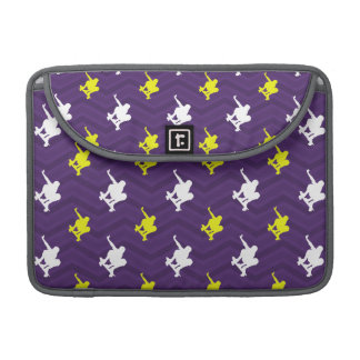 Púrpura, amarillo del oro, blanco, Chevron que and Fundas Para Macbooks