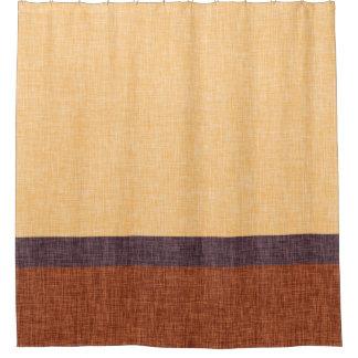 Púrpura ambarina y rayas de la textura de la cortina de baño