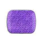 Púrpura Amethyst de la hoja floral del cordón del Frascos De Dulces