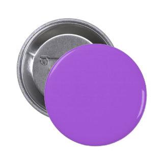~ PÚRPURA AMETHYST (del color sólido) Pin Redondo De 2 Pulgadas